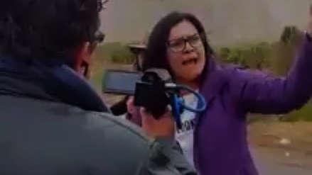 """""""Esto es cosa de delincuentes"""": Turista recriminó a manifestantes de Tía María por bloqueo de carretera"""