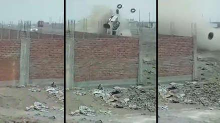 Video muestra cómo un patrullero se despista y deja dos policías heridos en Ascope