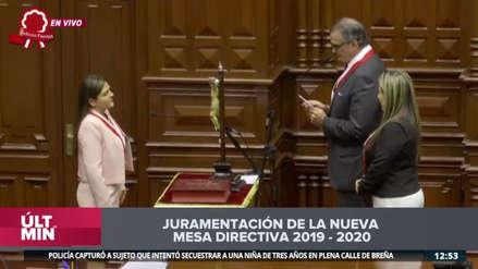 Así fue la juramentación de Karina Beteta como vicepresidenta del Congreso [VIDEO]