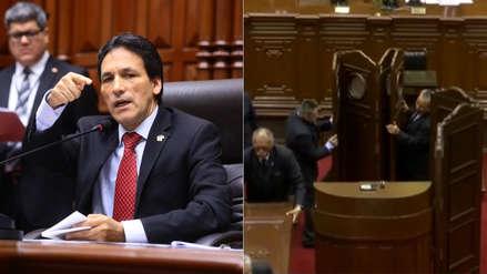 Segundo Tapia retiró cámara instalada para que votación para presidente del Congreso sea secreta