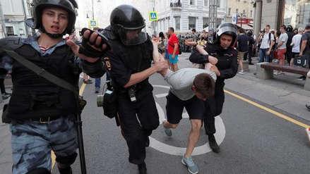La Policía rusa arrestó a más de mil personas en protesta opositora en Moscú