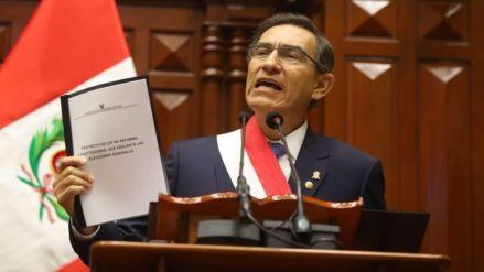 Sondeo: ¿Estás de acuerdo con la propuesta de Martín Vizcarra de adelantar elecciones?
