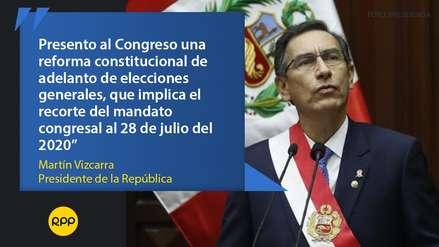 Las frases que dejó el presidente Martín Vizcarra durante su Mensaje a la Nación