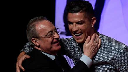 Cristiano Ronaldo y el emotivo reencuentro con el presidente del Real Madrid Florentino Pérez
