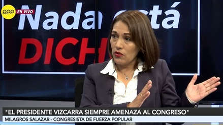 Milagros Salazar: La autocrítica de Fuerza Popular es no haber tenido