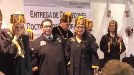 Laura Bozzo fue nombrada Doctora Honoris Causa en México