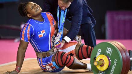 ¡Doloroso! Pesista dominicana sufrió lesión cuando luchaba por el oro en los Juegos Panamericanos
