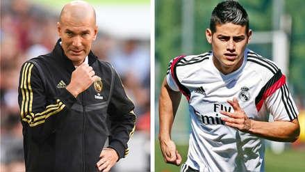 Zinedine Zidane sobre el futuro de James Rodríguez: