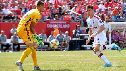 ¿Debió invalidarse? El polémico saque de arco en el partido entre Benfica y AC Milan
