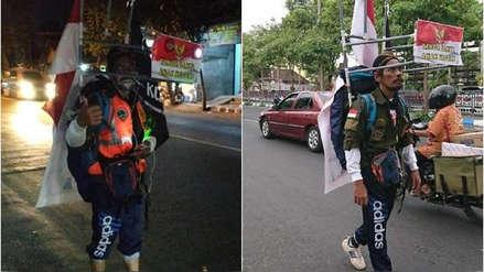 Hombre camina 800 km. de espaldas de su pueblo a la capital para enviar mensaje a su presidente