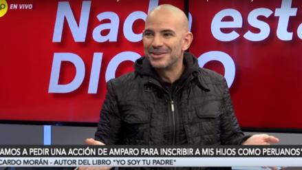 Ricardo Morán presentará acción de amparo para que sus hijos sean reconocidos como peruanos