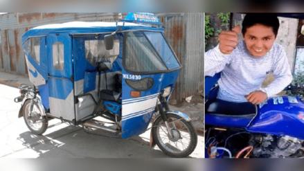 Joven de Ucayali inventa mototaxi que funciona 100% con agua