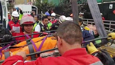 Dos muertos y al menos seis heridos por derrumbe en obra del Cercado de Lima