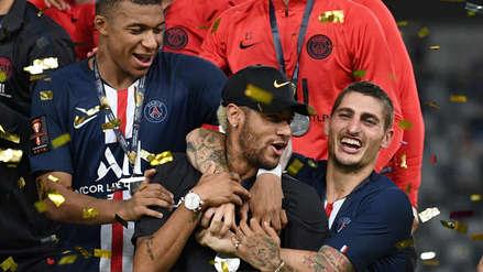 ¡Neymar no jugó, pero celebró! PSG ganó la Supercopa de Francia