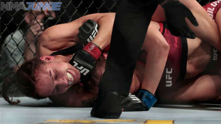 ¡Triunfo peruano! Antonina Shevchenko durmió a Lucie Pudilova y la venció por sumisión técnica en UFC Nueva Jersey
