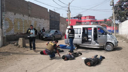 Así fue la captura de banda que planeaba asaltar a dueño de fábrica de reciclaje [VIDEO]