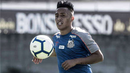 ¿Se va de Santos? Botafogo inició conversaciones con el agente de Christian Cueva, según prensa brasileña