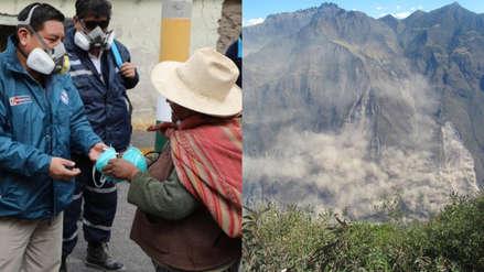 Apurímac: Minsa envía 25,000 mascarillas para la población afectada por deslizamiento de cerro