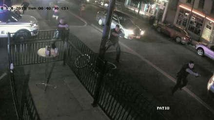 Tiroteo en Ohio: El momento en que el atacante es abatido por un policía que evitó que ingresara a un bar [VIDEO]