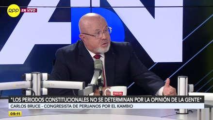 """Carlos Bruce sobre adelanto de elecciones: """"Los periodos constitucionales no se determinan por la opinión de la gente"""""""