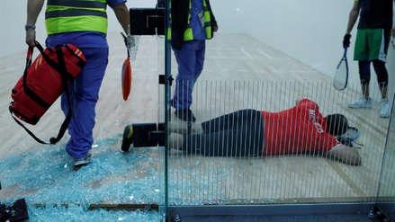 ¡Duro golpe! Raquetbolista se estrelló contra cristal en los Juegos Panamericanos