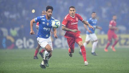 Con Paolo Guerrero, Internacional venció 1-0 a Cruzeiro por la semifinal de la Copa Brasil 2019