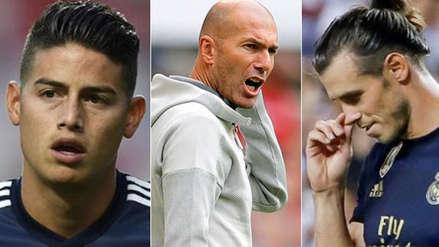 Zinedine Zidane dejó claro que no quiere a James Rodríguez y Gareth Bale con esta fuerte medida