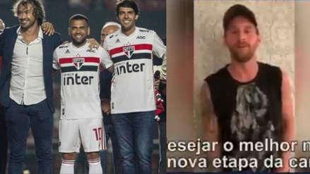 Lionel Messi envió emotivo mensaje a Dani Alves tras su fichaje con Sao Paulo