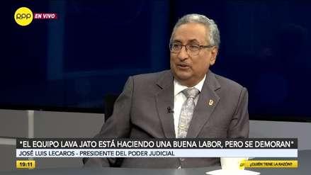 José Luis Lecaros critica la demora en las investigaciones del Equipo Especial Lava Jato