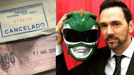 El Power Ranger verde logró salir del Perú y explicó por qué tenía impedimento de salida del país