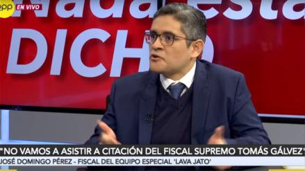 José Domingo Pérez sobre pedido de reunión con fiscales supremos: