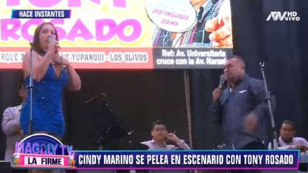 Tony Rosado: Cindy Marino responde tras abandonar concierto del cantante por comentarios machistas