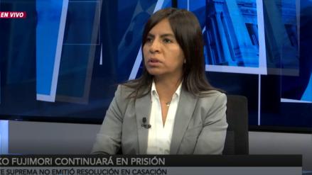 Giulliana Loza: Nos oponemos a una eventual reducción de la prisión preventiva de Keiko Fujimori