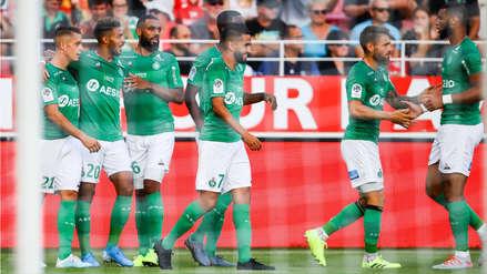 Saint Etienne derrotó 2-1 al Dijon como visitante en el debut de Miguel Trauco en Ligue 1