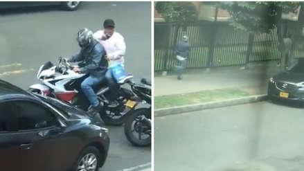 Delincuentes asaltaron un banco, pero no pudieron escapar porque su moto se malogró