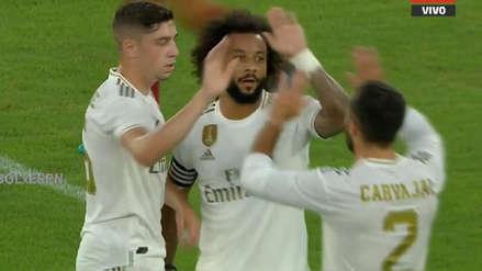 ¡Apareció Marcelo! El brasileño anotó el primer gol del Real Madrid frente a la Roma