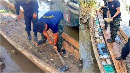 Marina de Guerra incauta una tonelada de estupefacientes  en embarcaciones en el río Napo