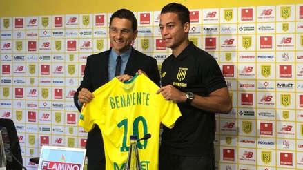 Cristian Benavente fue presentado con la 10 del Nantes: