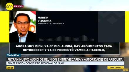 Consejero de Islay niega que Vizcarra planteara posición contraria al proyecto Tía María en reunión