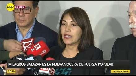 Milagros Salazar fue elegida como vocera de la bancada de Fuerza Popular
