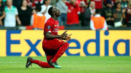 ¡Doblete! Sadio Mané anotó el segundo gol de Liverpool ante Chelsea por la Supercopa de Europa