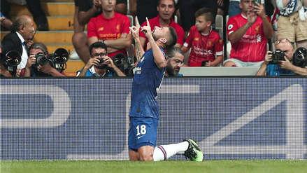 ¡Golazo! Olivier Giroud anotó el primer gol del partido entre Liverpool y Chelsea por la Supercopa de Europa