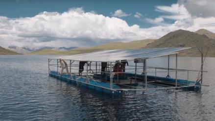 Peruano crea un gran panel solar en laguna de Chullpia y mejora la vida de las familias que habitan en la región