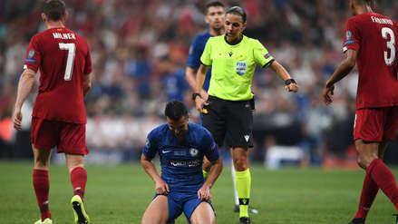 10 fotos de la actuación de Stéphanie Frappart, primera mujer en arbitrar una Supercopa de Europa