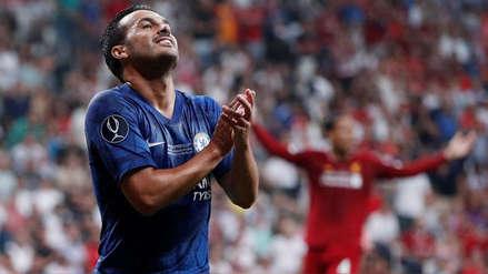 En la Supercopa de Europa: el remate de Pedro que sacudió el arco de Liverpool