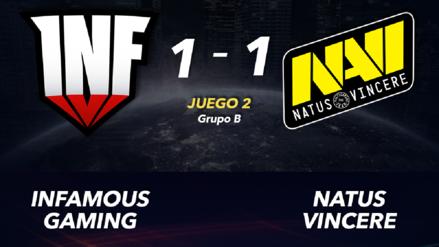 Infamous Gaming empató contra Na'Vi en su segunda serie en The International 2019