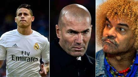 Zinedine Zidane recibió duro dardo de Carlos Valderrama por situación de James Rodríguez