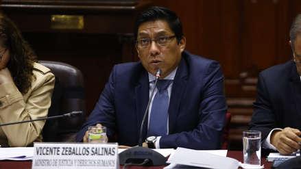 Congreso aprobó interpelar al ministro Vicente Zeballos por la liberación del sicario 'Goro'