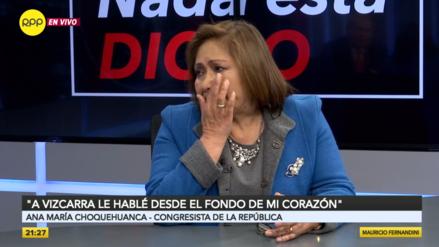 Choquehuanca se quiebra tras renuncia a PPK: Hablé con Vizcarra