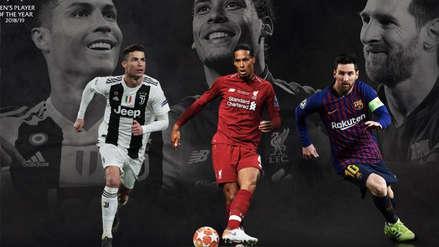 Cristiano Ronaldo, Lionel Messi y Van Dijk finalistas a jugador del año en la UEFA